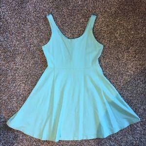 Express Blue Skater Dress